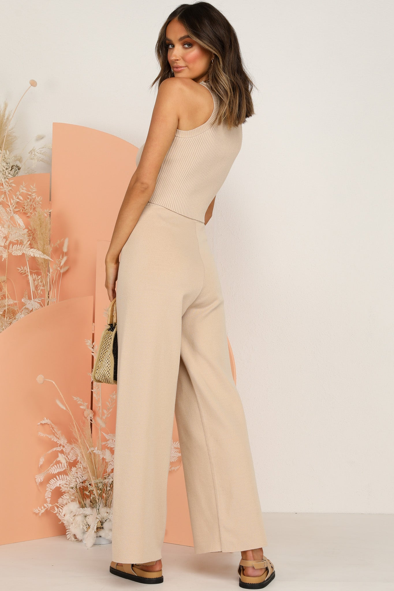 Chandon Knit Pants (Beige)