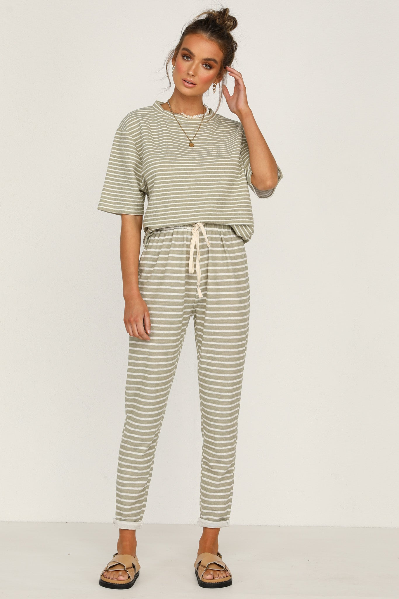 Tides Pants (Khaki Stripe)