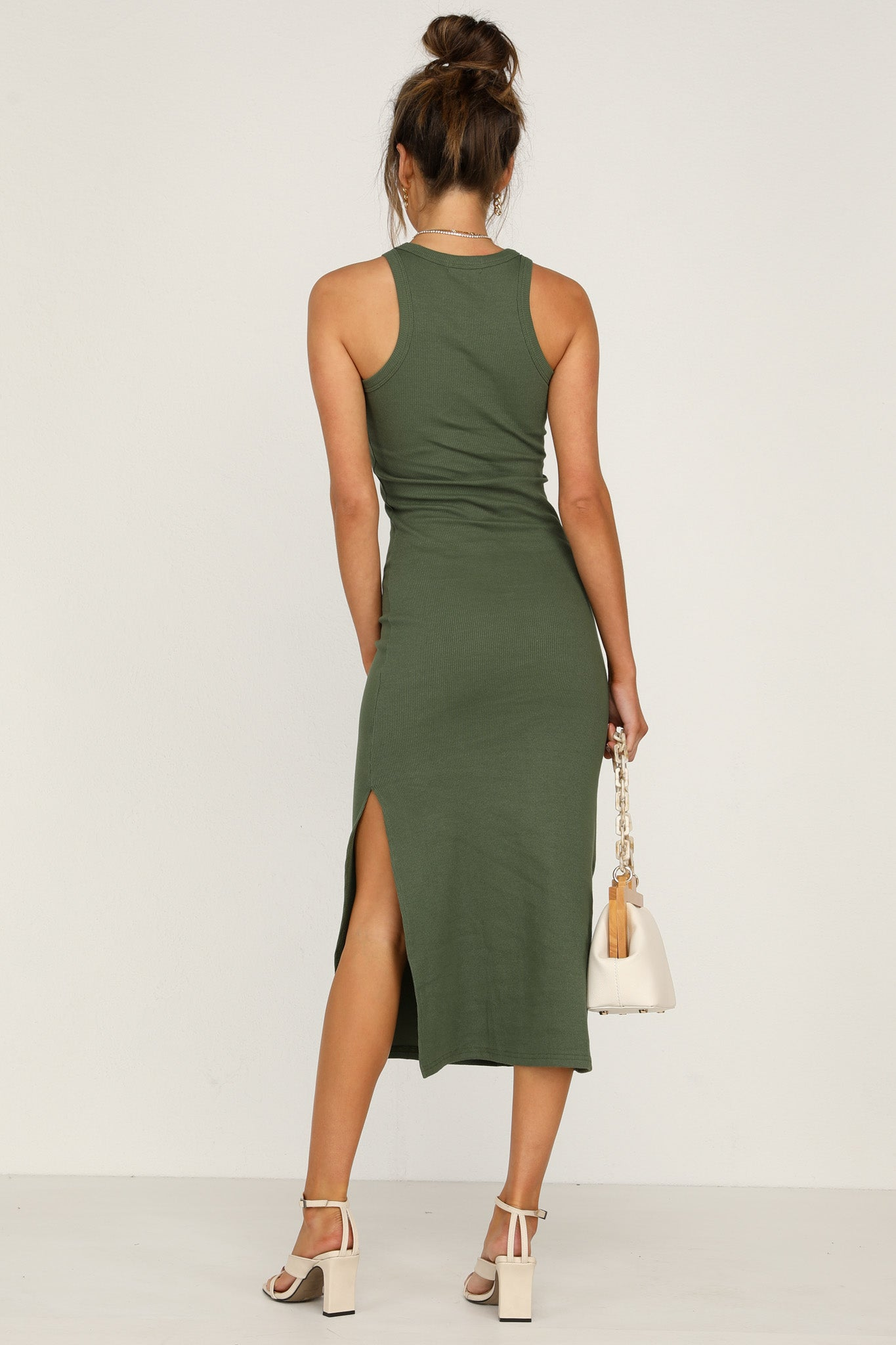 Nine Lives Dress (Khaki)