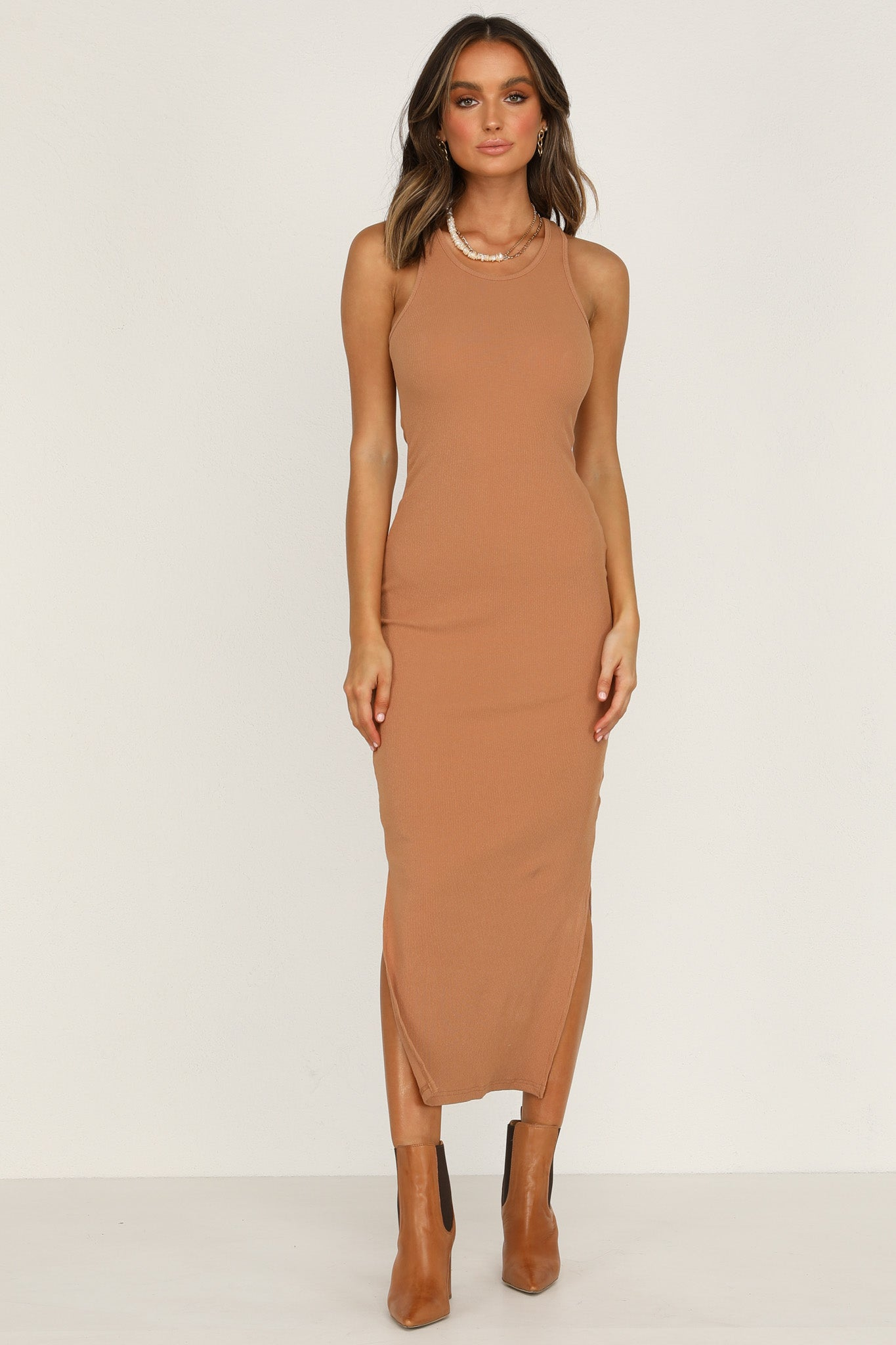 Estelle Dress (Tan)