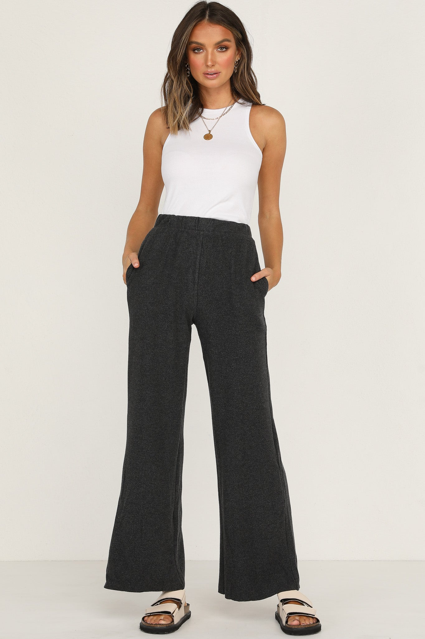 Me And You Knit Pants (Charcoal)