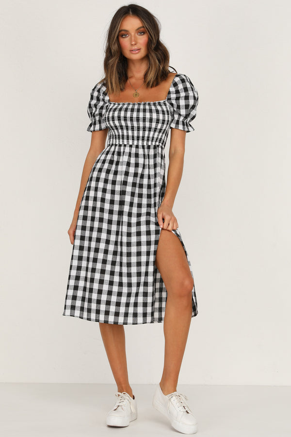 Mimi Dress (Black Gingham)