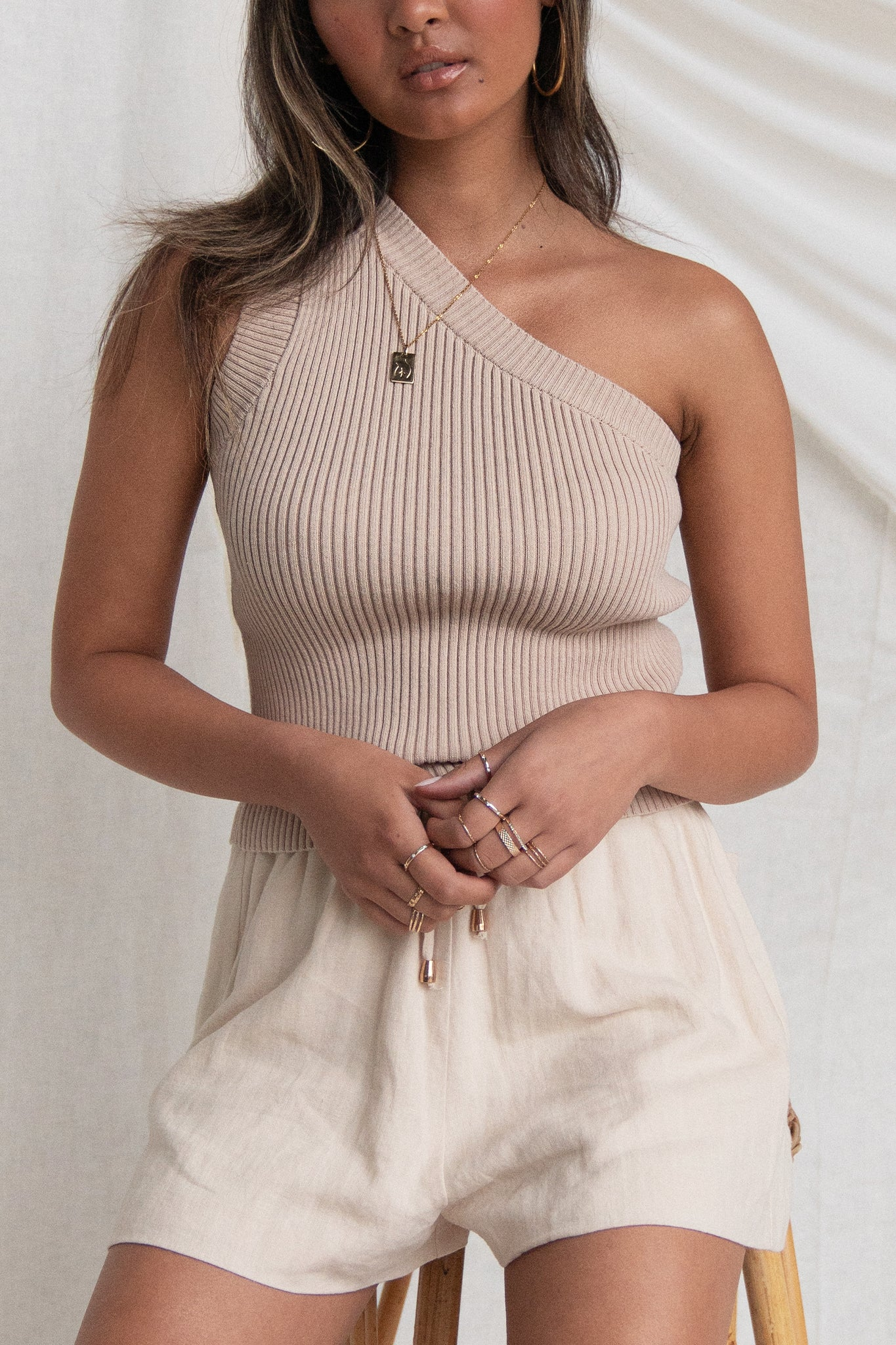 Charlie Knit Top (Beige)