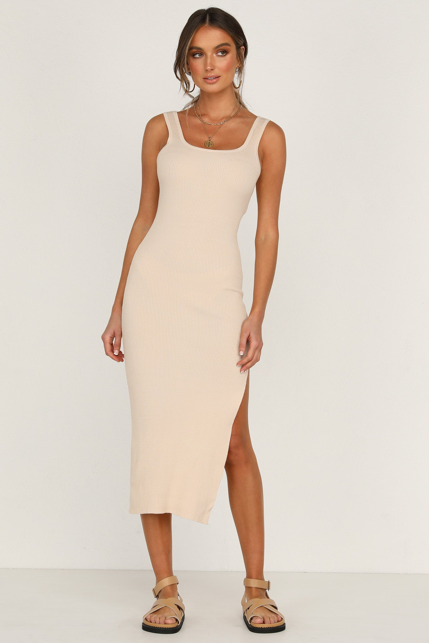 Nathalia Dress (Beige)