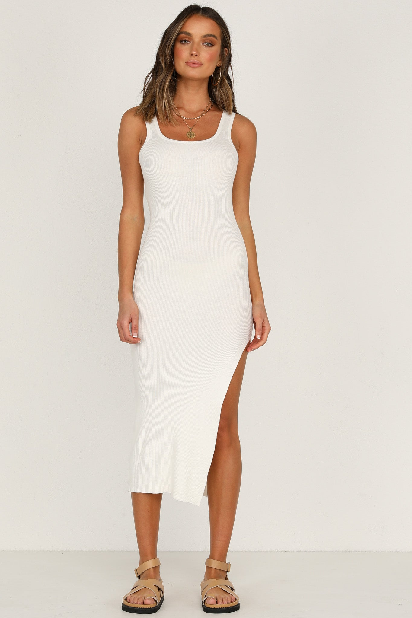 Nathalia Dress (White)