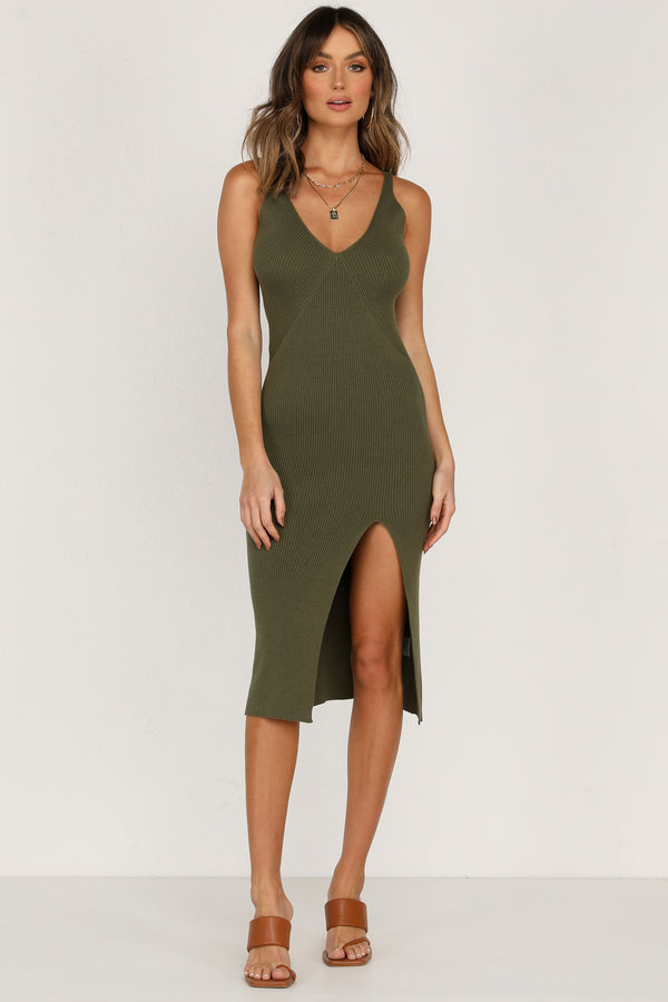 Oceanside Dress (Khaki)