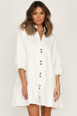 Zachary Dress (Ivory)
