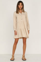 Dream Valley Dress (Beige)