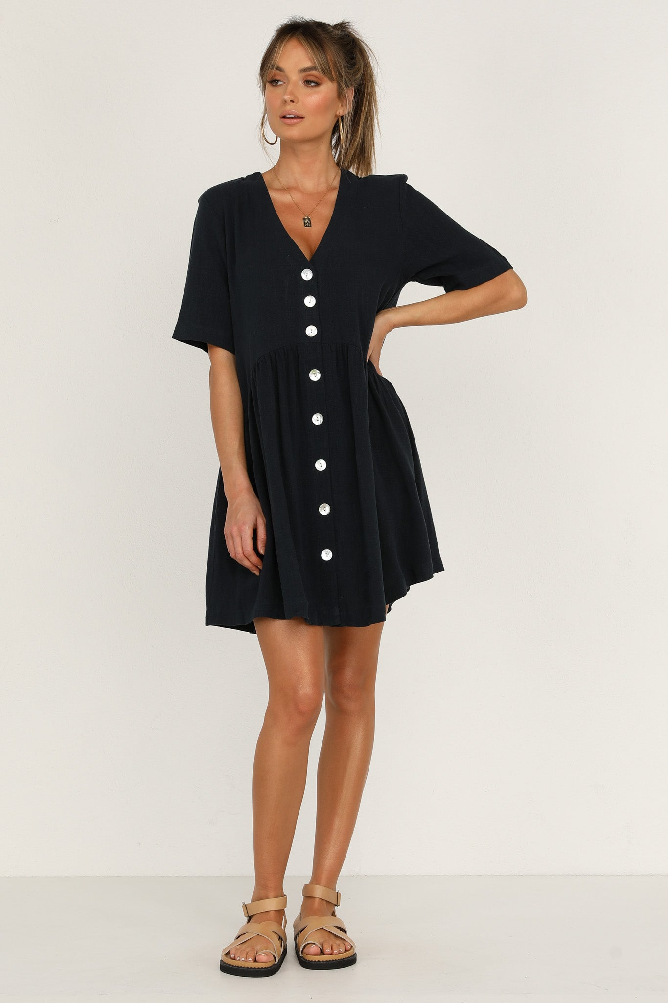 Surrender Dress (Navy)