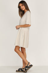 Double Time Dress (Beige)