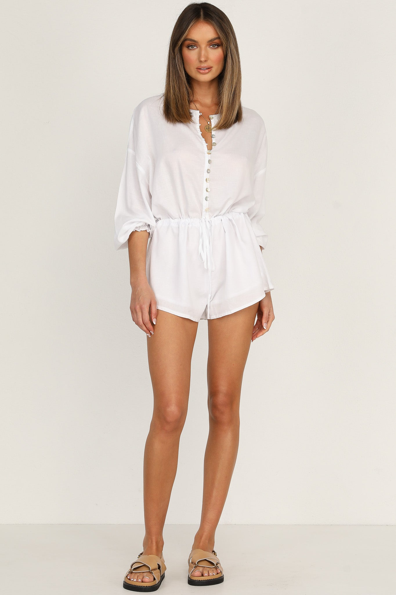 Shiloh Playsuit (White)