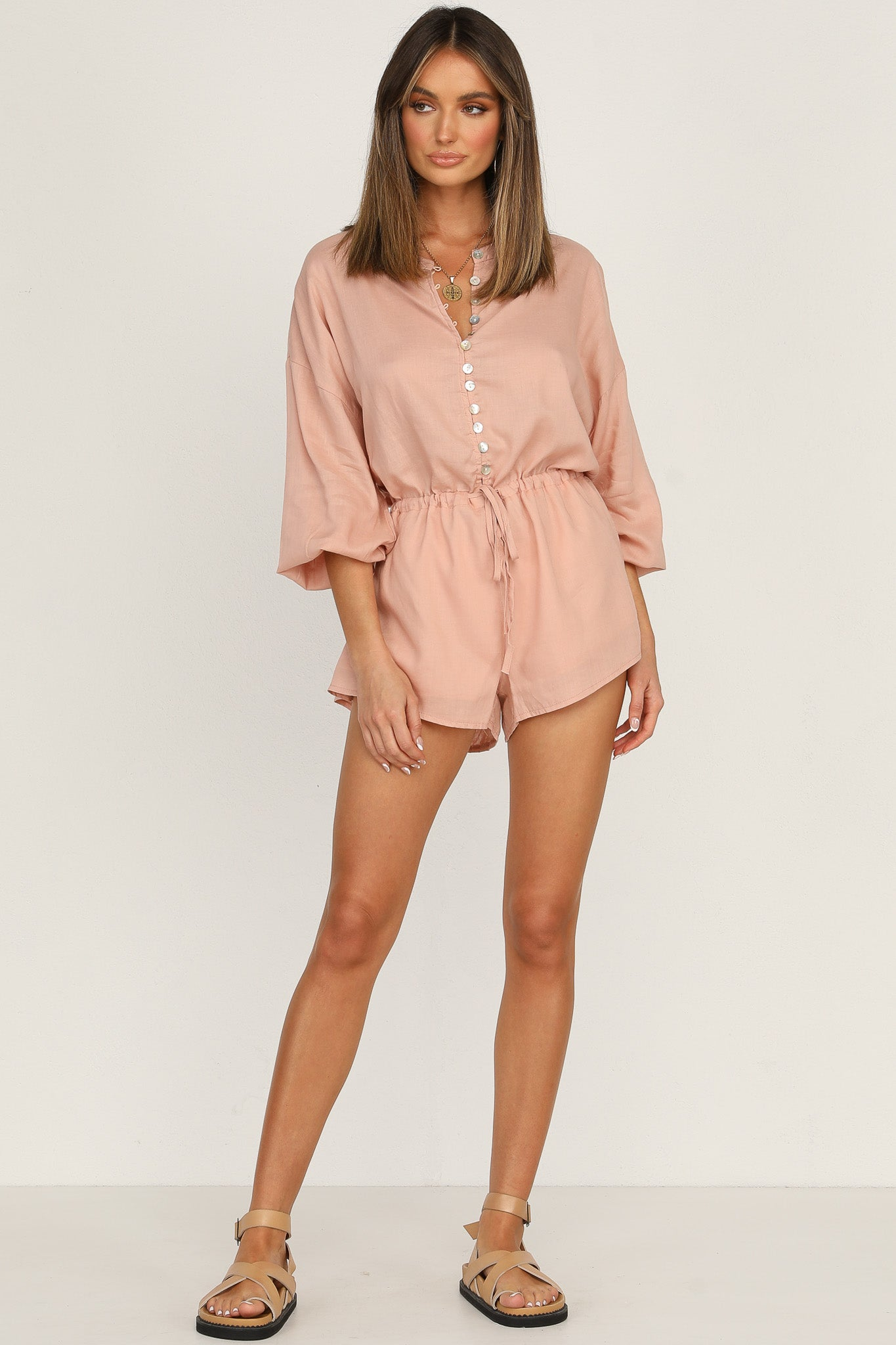 Shiloh Playsuit (Pink)