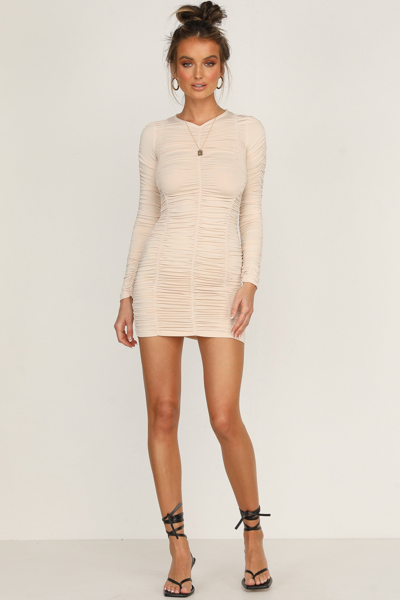 Muse Dress (Beige)
