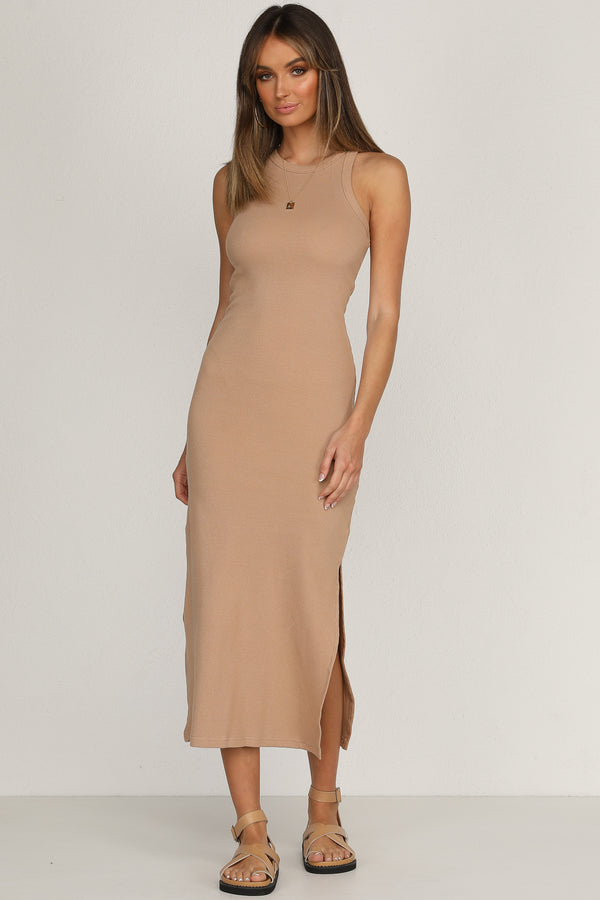 Nine Lives Dress (Tan)