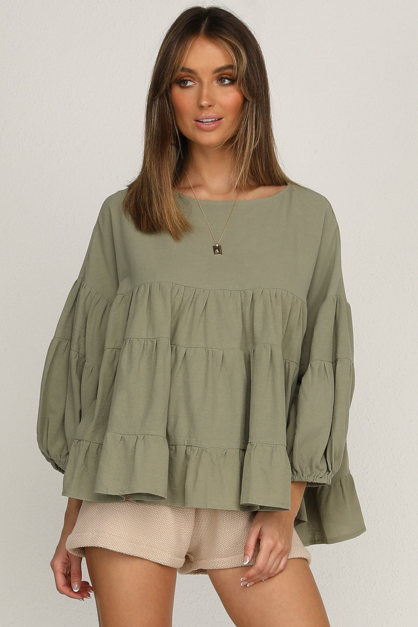 Meet Again Top (Khaki)
