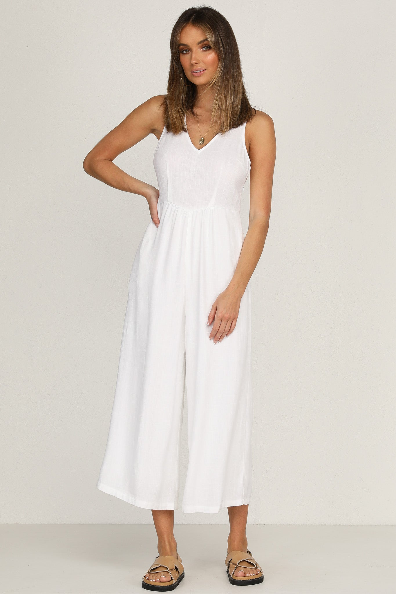 Ava Jumpsuit (White)