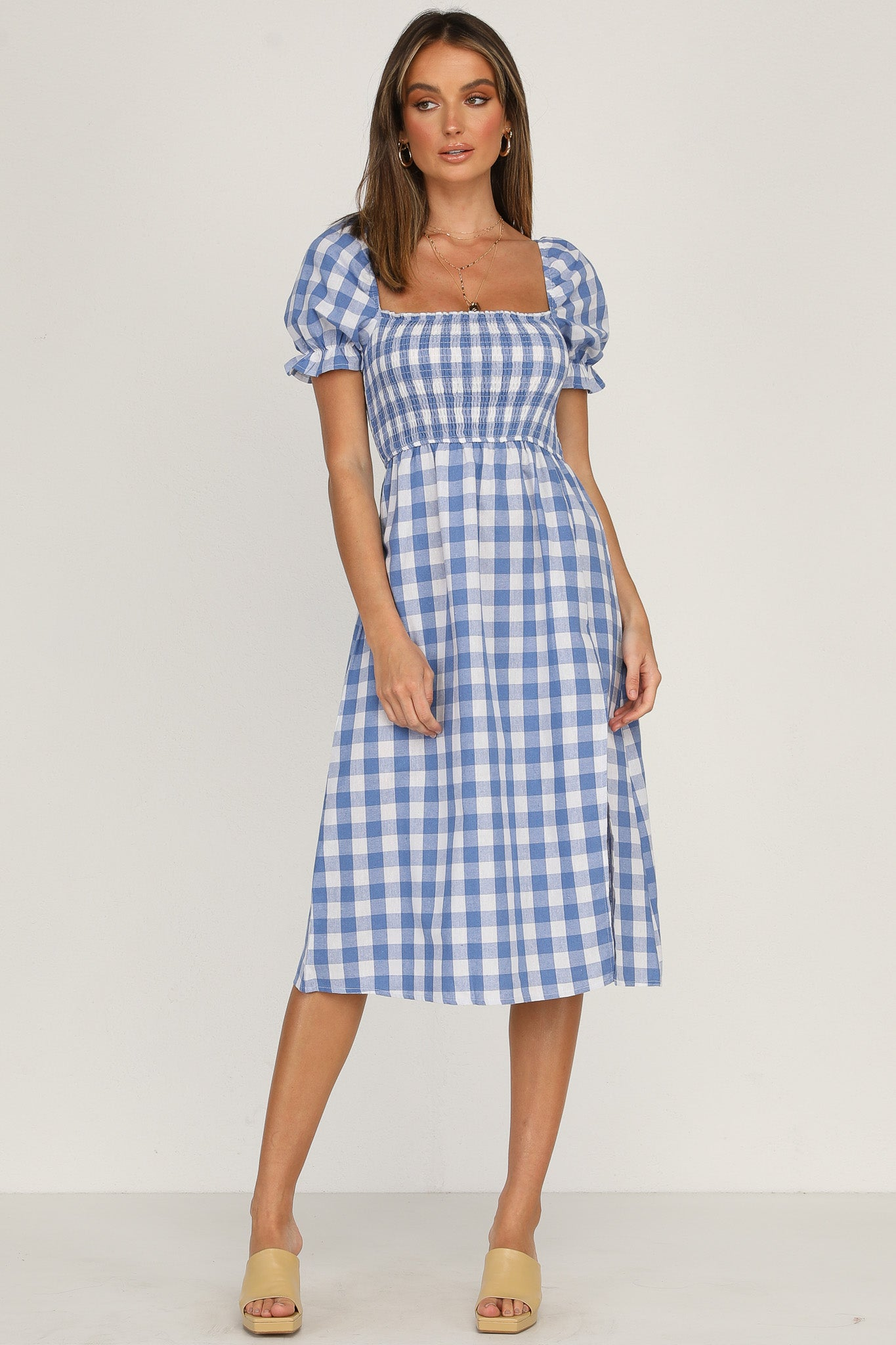 Mimi Dress (Blue Gingham)