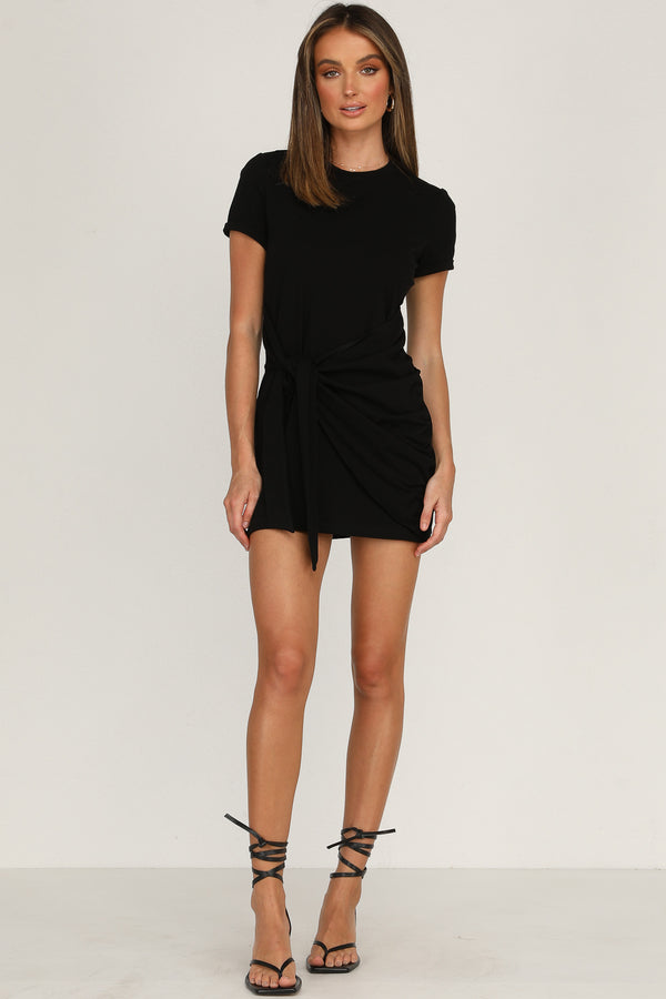 Winnie Shirt Dress (Black)