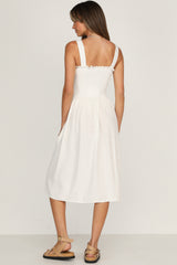 Magnolia Dress (White)