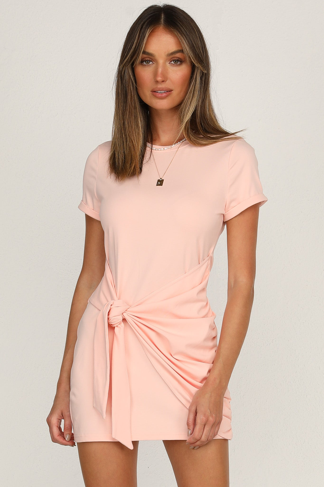 Winnie Shirt Dress (Pink)