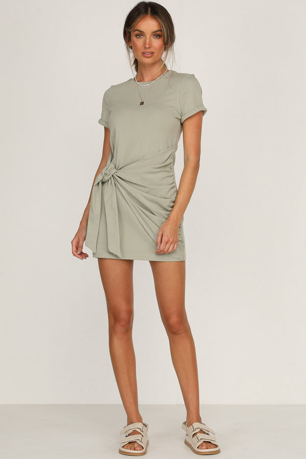 Winnie Shirt Dress (Sage)