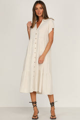 Audrey Dress (Beige)