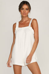 Mia Playsuit (White)