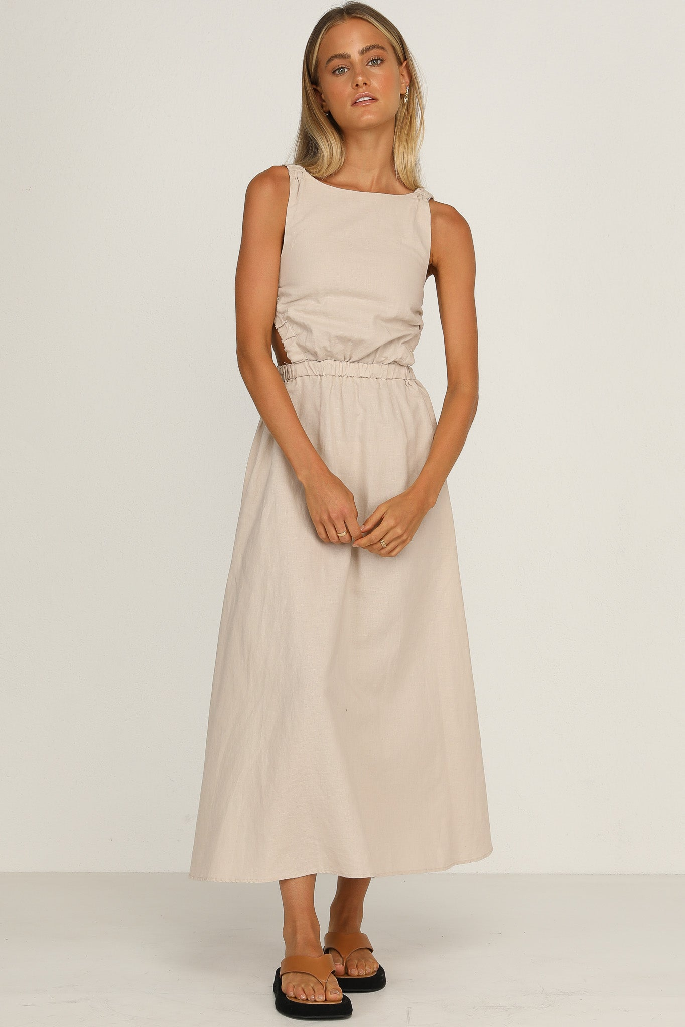 Harper Dress (Beige)