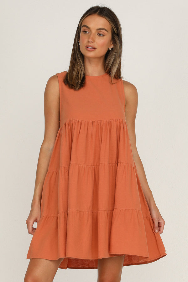 York Dress (Rust)
