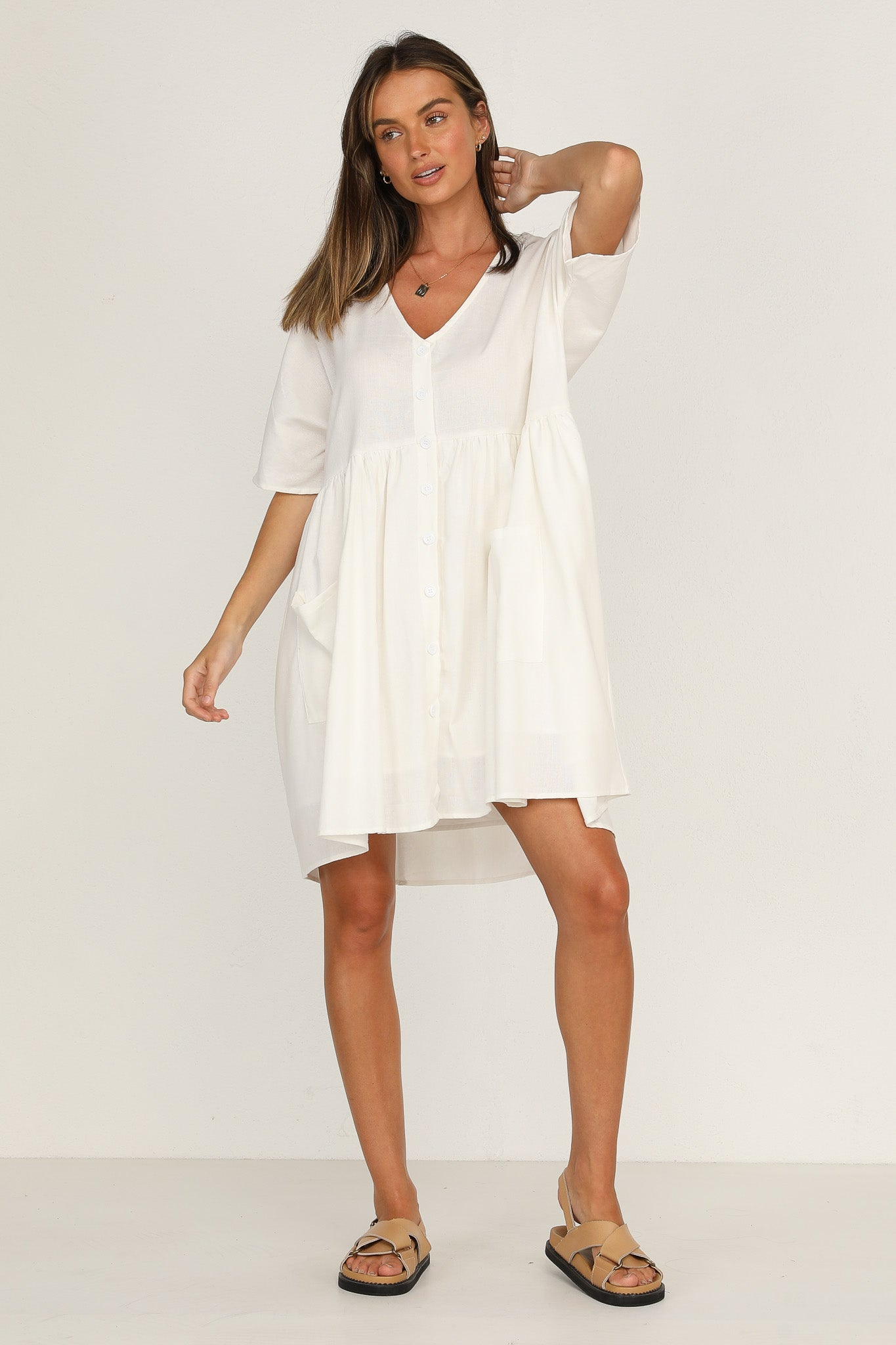 Nevada Dress (White)