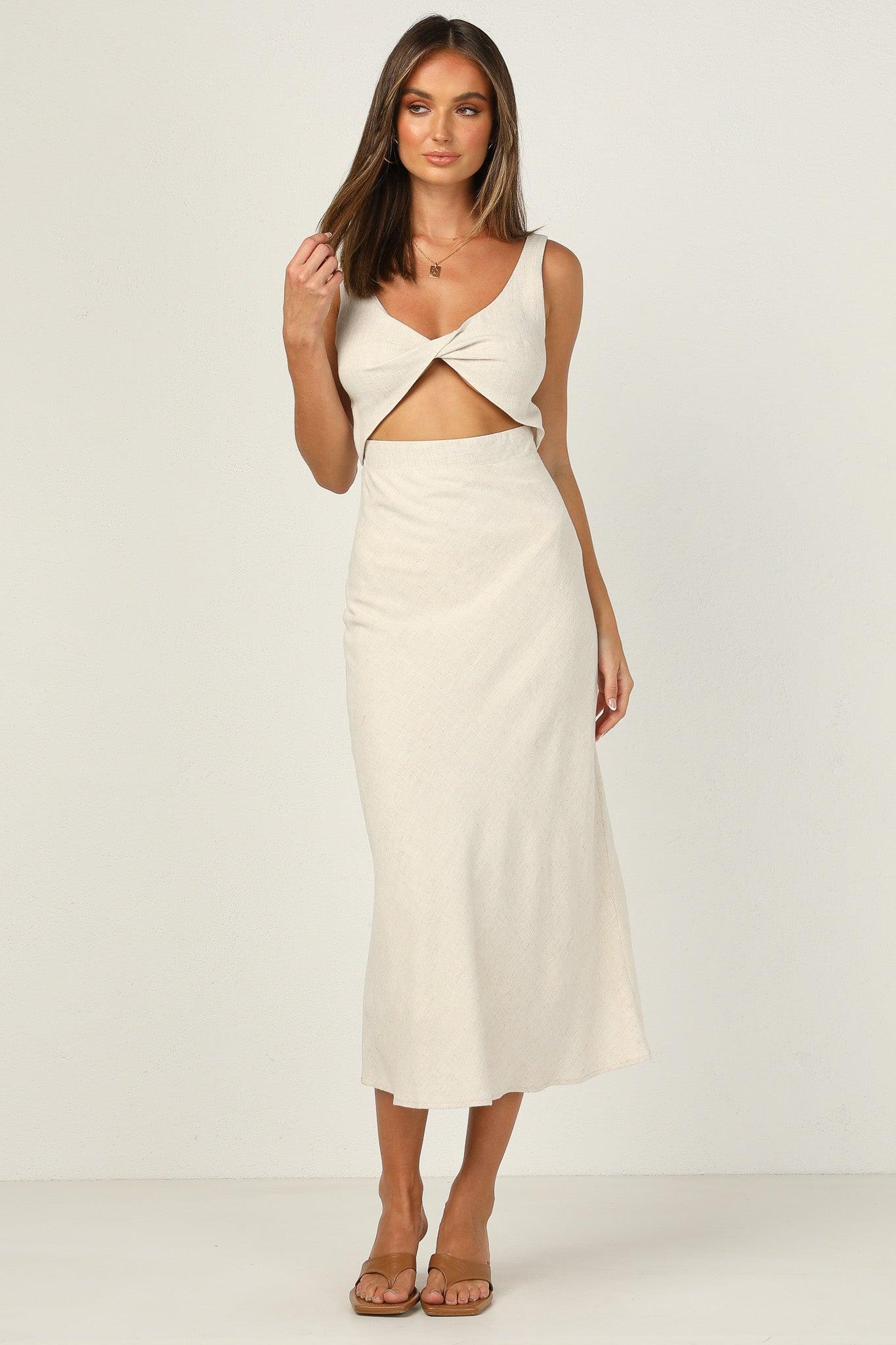 Jessie Dress (Beige)
