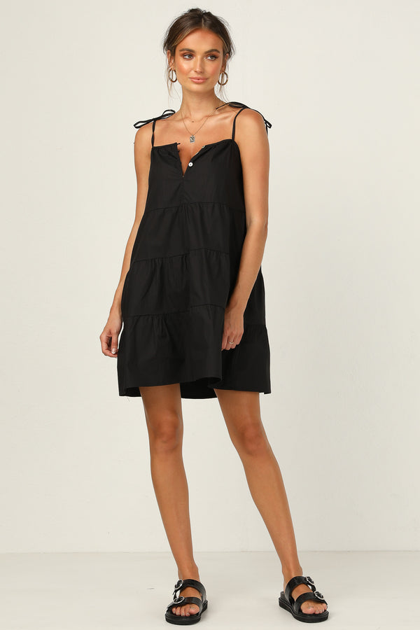 St Tropez Mini Dress (Black)
