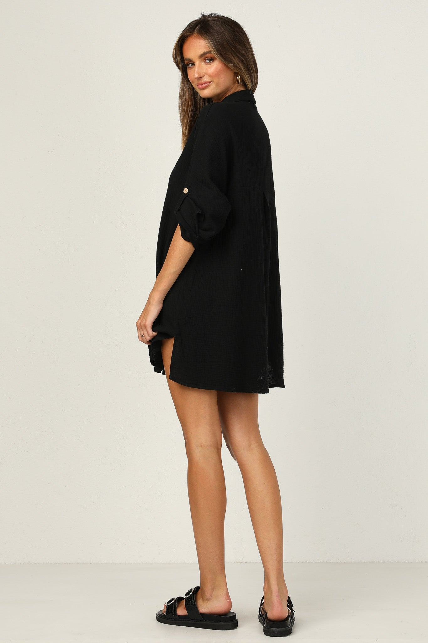 Elton Shirt Dress (Black)