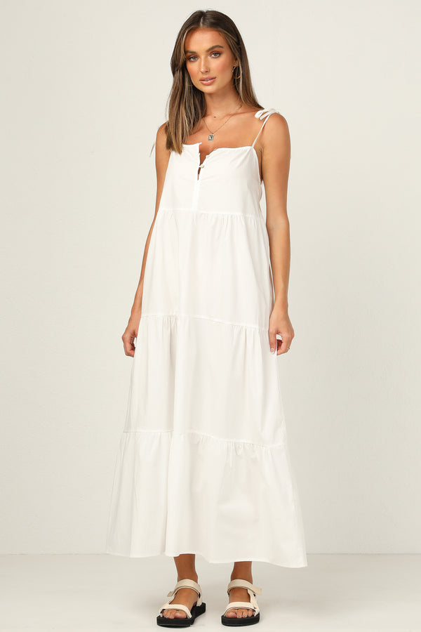 St Tropez Maxi Dress (White)