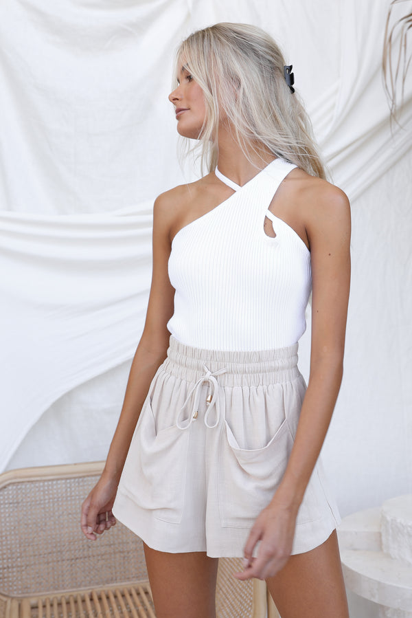 Lourdes Knit Top (White)