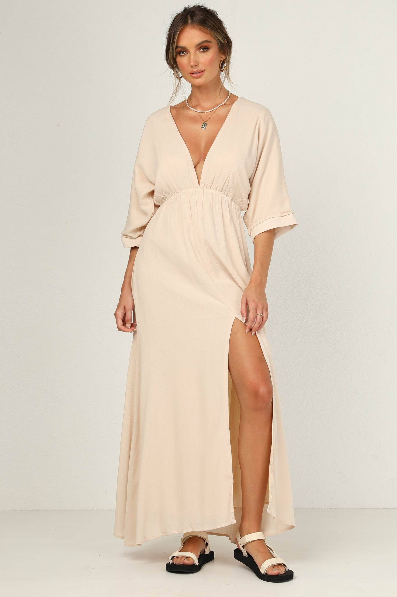Verity Dress (Beige)