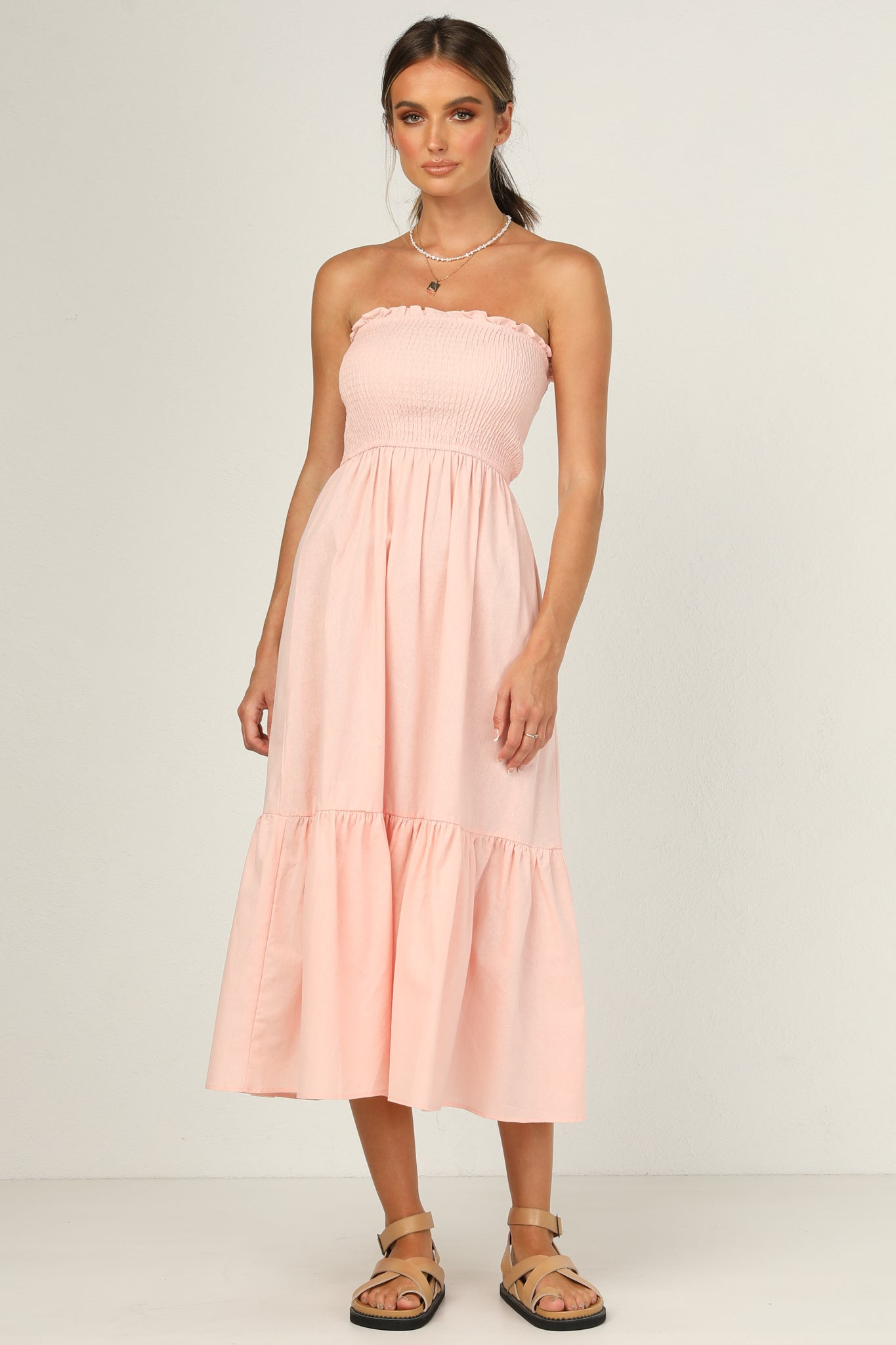 Geneva Strapless Dress (Pink)