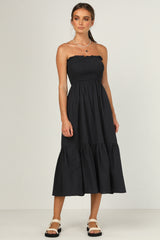 Geneva Strapless Dress (Navy)