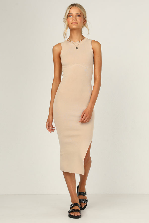 Fletcher Knit Dress (Beige)