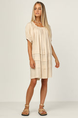 Caspian Dress (Beige)