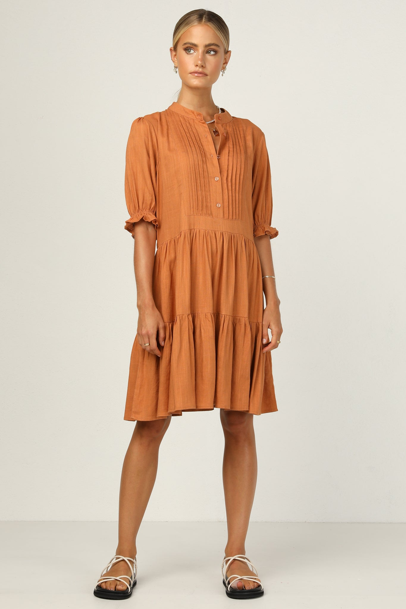 Irving Dress (Rust)