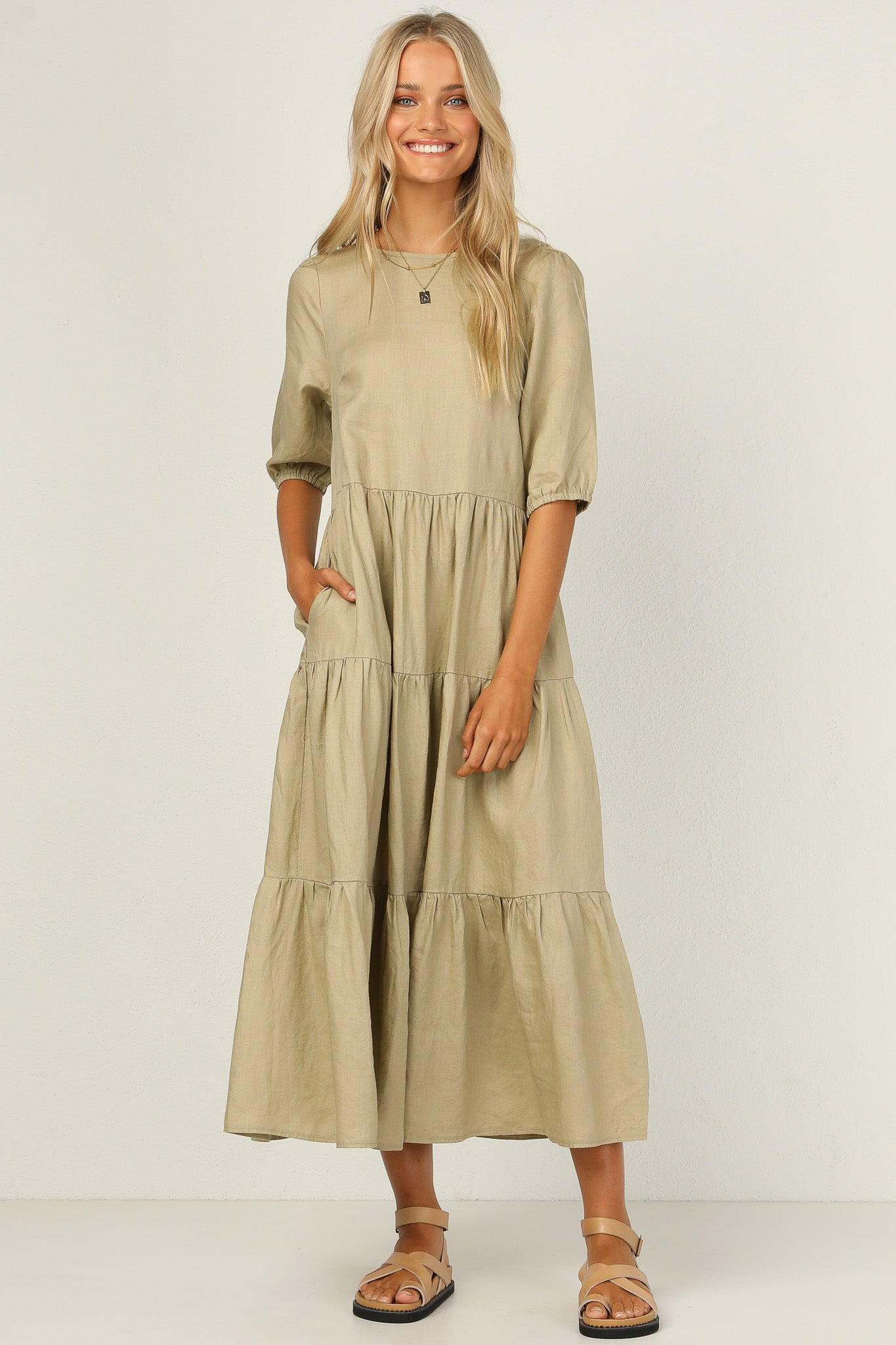 Autumn Dress (Khaki)