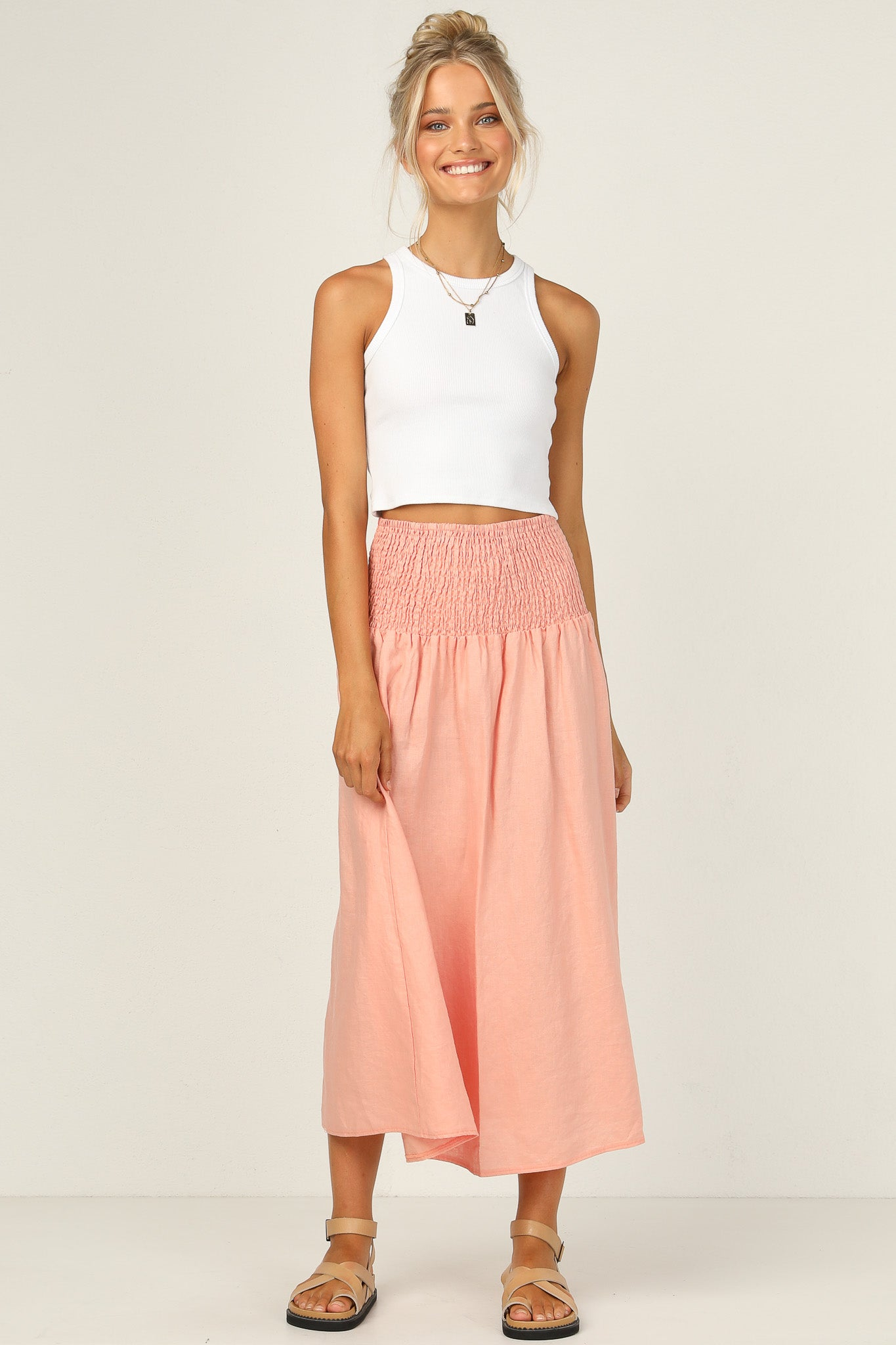 Adelle Skirt (Peach)