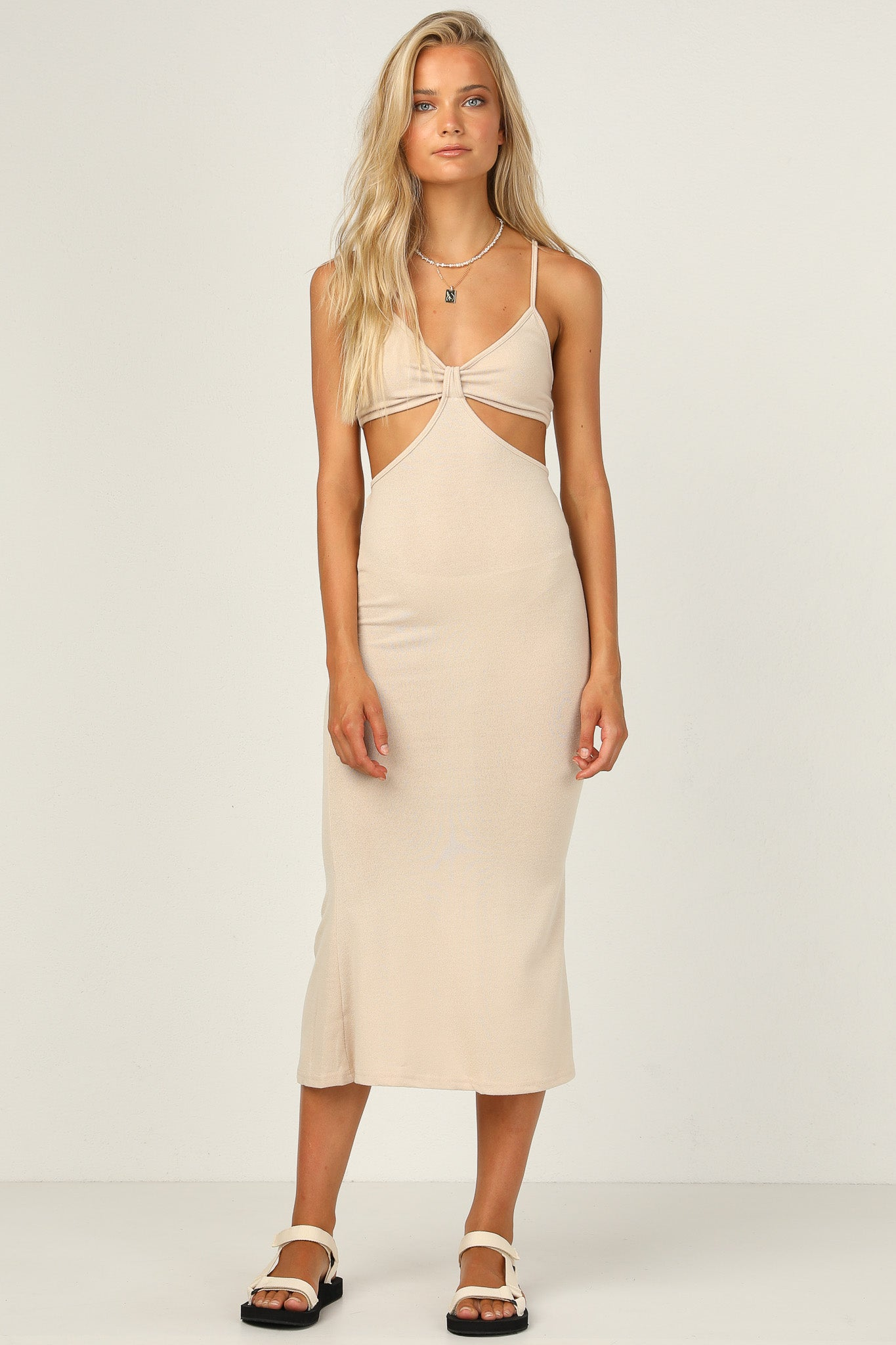 Carmen Dress (Beige)