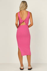Bella Knit Dress (Fuchsia)
