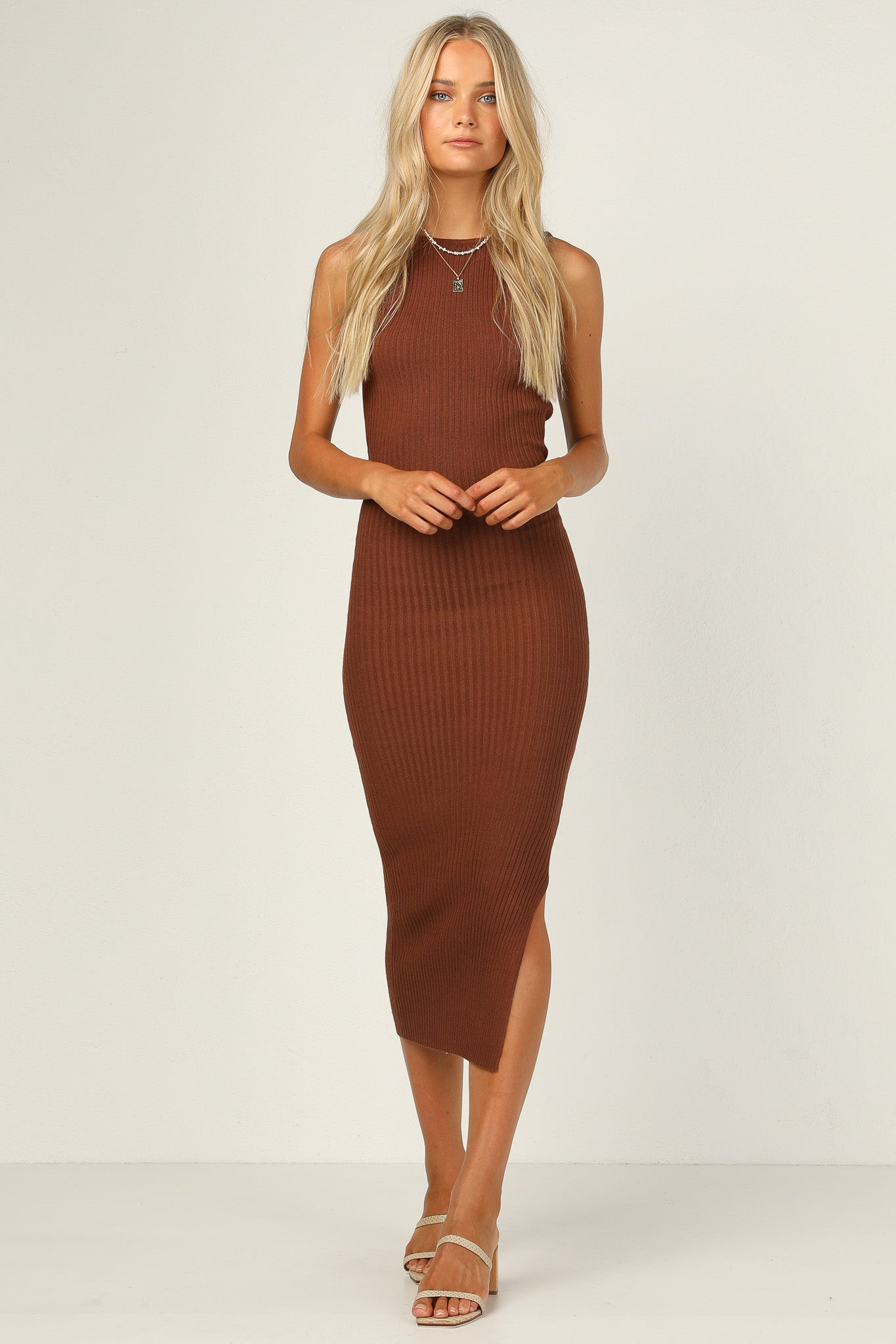 Bella Knit Dress (Chocolate)
