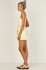 Willa Playsuit (Custard)