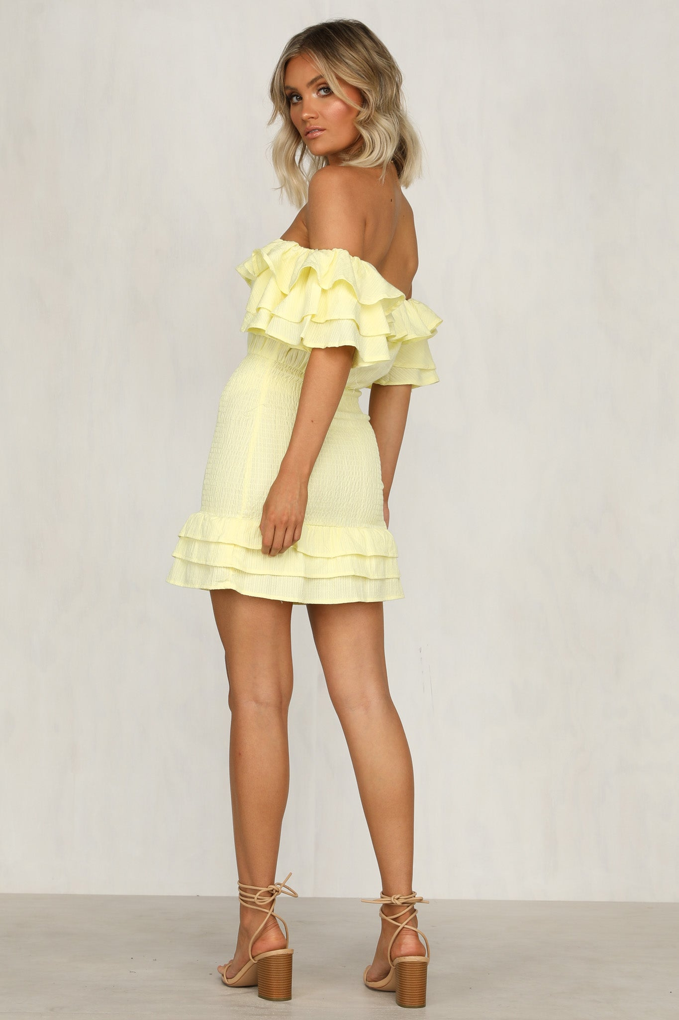 Shirr Me Dress (Lemon)