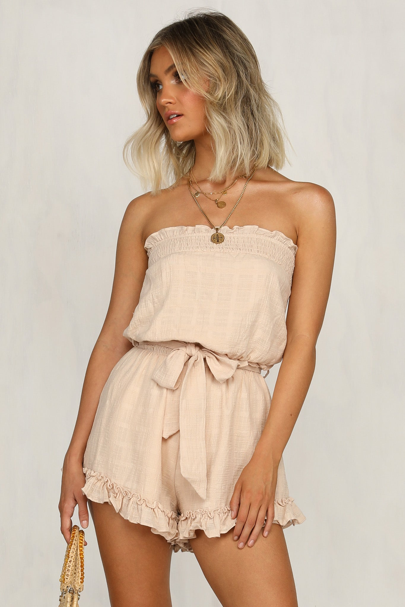 We Can't Stop Playsuit (Beige)
