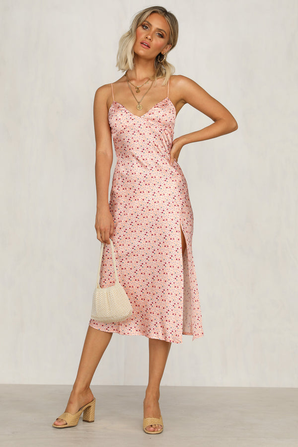 Summer Of Love Dress (Pink Floral)